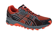 Asics Men's Gel Fujitrabuco G-TX orange black titanium